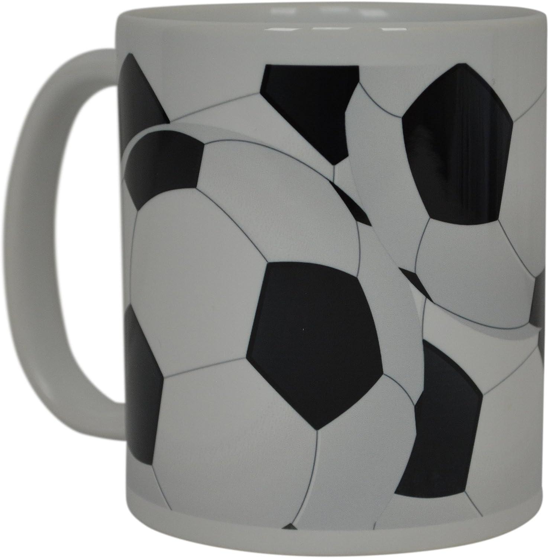 Burton Soccer Ball Ceramic Mug Coffee Tea Cup Sport Futbol Black White Burton