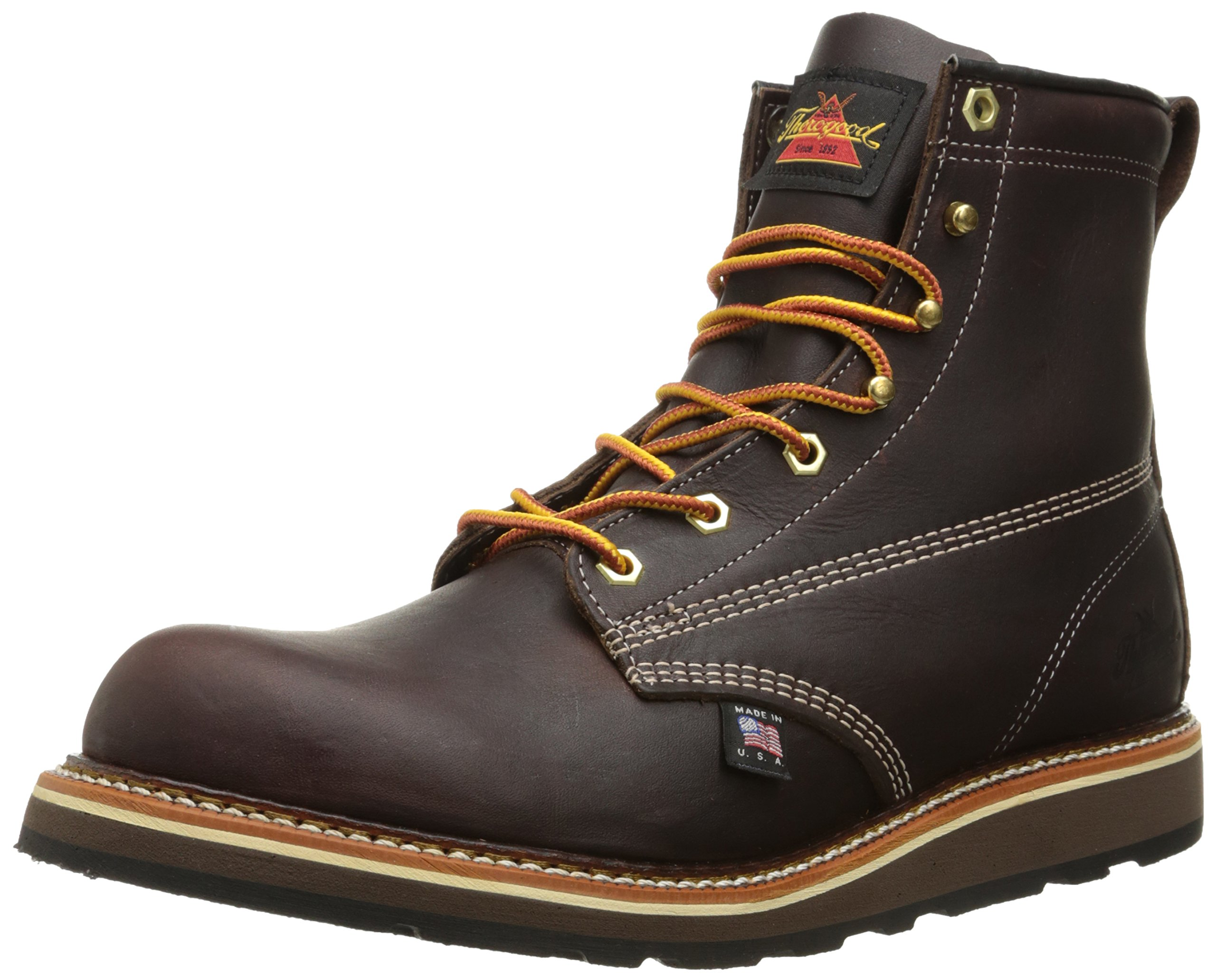 Thorogood American Heritage 6'' Plain Toe Rubber Boot, Walnut, 10.5 D US