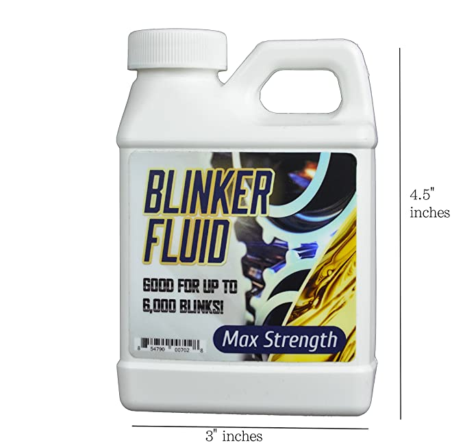 graphic relating to Id10t Form Printable called Blinker Fluid-HAND Saved Edition-Hilarious Gag Present-Stocking Stuffer-Car or truck Prank-8 oz Vacant Bottle