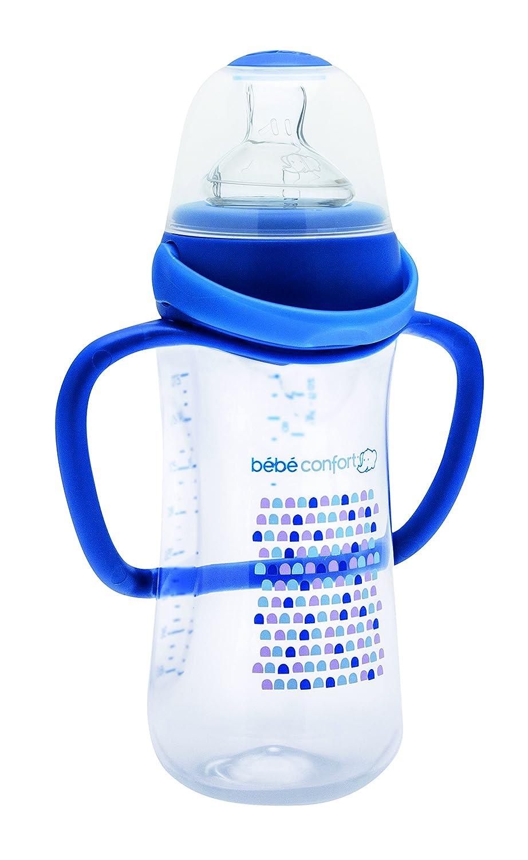 Bébé Confort - Biberón Perfect Sense Fisiológico con clip antifugas, 270 ml (modelos diferentes) azul