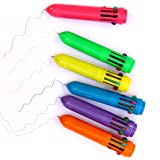 Dazzling Toys Plastic Neon Mini Shuttle Pens - Pack of 24 - Pen Measures: 3 3/4 Inch