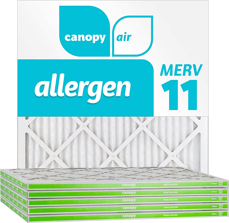 """11 3//4/"""" x 11 3//4/"""" x 3//4/"""" Box of 4 12x12x1 Canopy Filters MERV 11"""