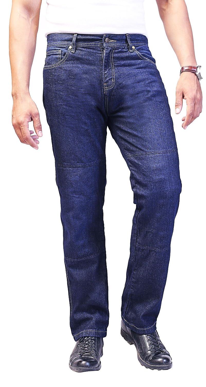 Kostenlose Protektoren Enthalten 5005 HB Aramid Verst/ärkte Herren-Motarrad-Jeans
