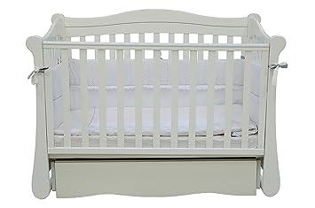 Babybett Kinderbett Weiss 120x60 Buche Massivholz Neu New York 18 06