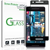 Google Pixel 2 Screen Protector Glass, amFilm Google Pixel 2 Tempered Glass Screen Protector Dot Matrix for Google Pixel 2 0.3mm (1 Pack)