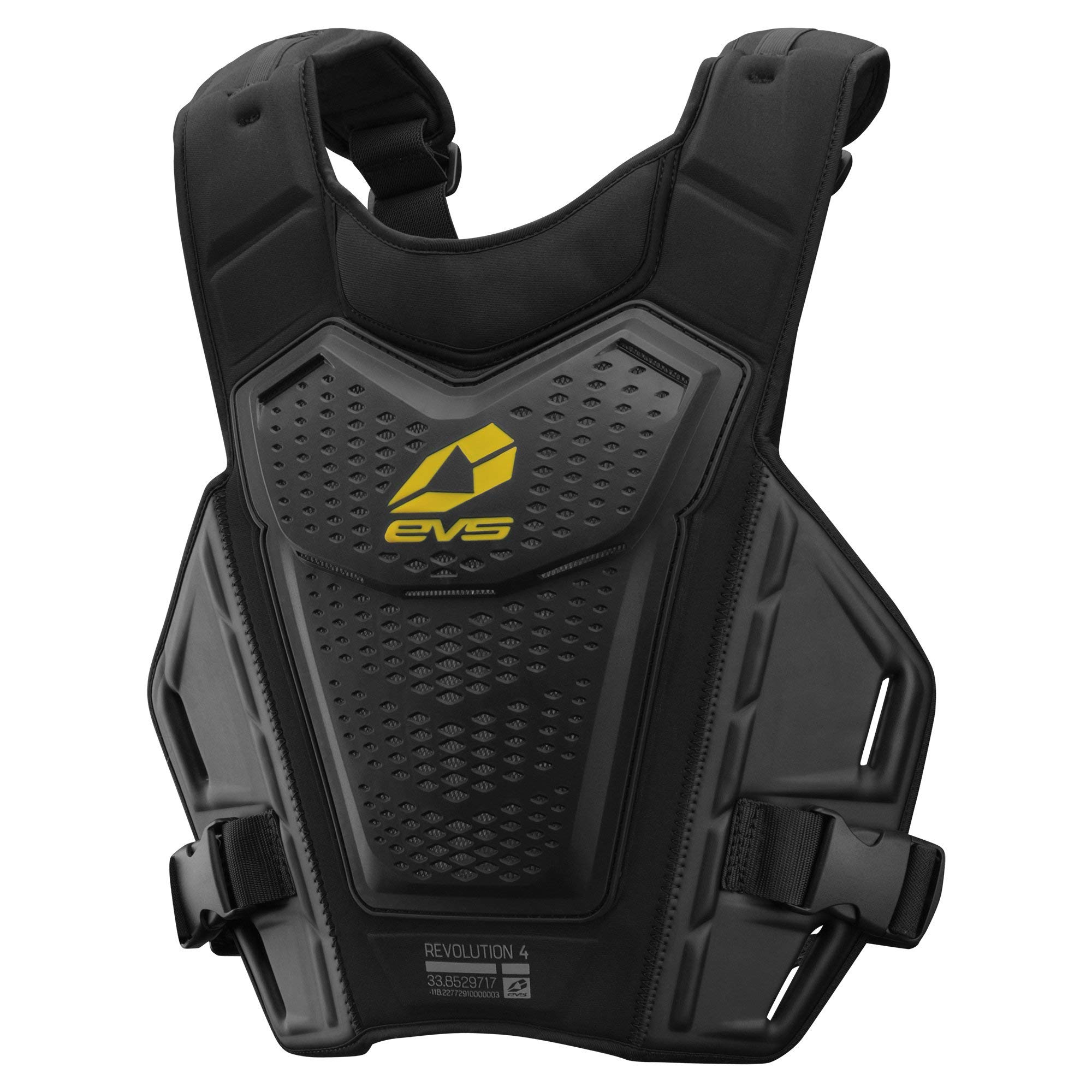 EVS Sports Men's Roost Deflector (REVO 4) (Black/Hi-Viz, Adult (L/XL)) by EVS Sports