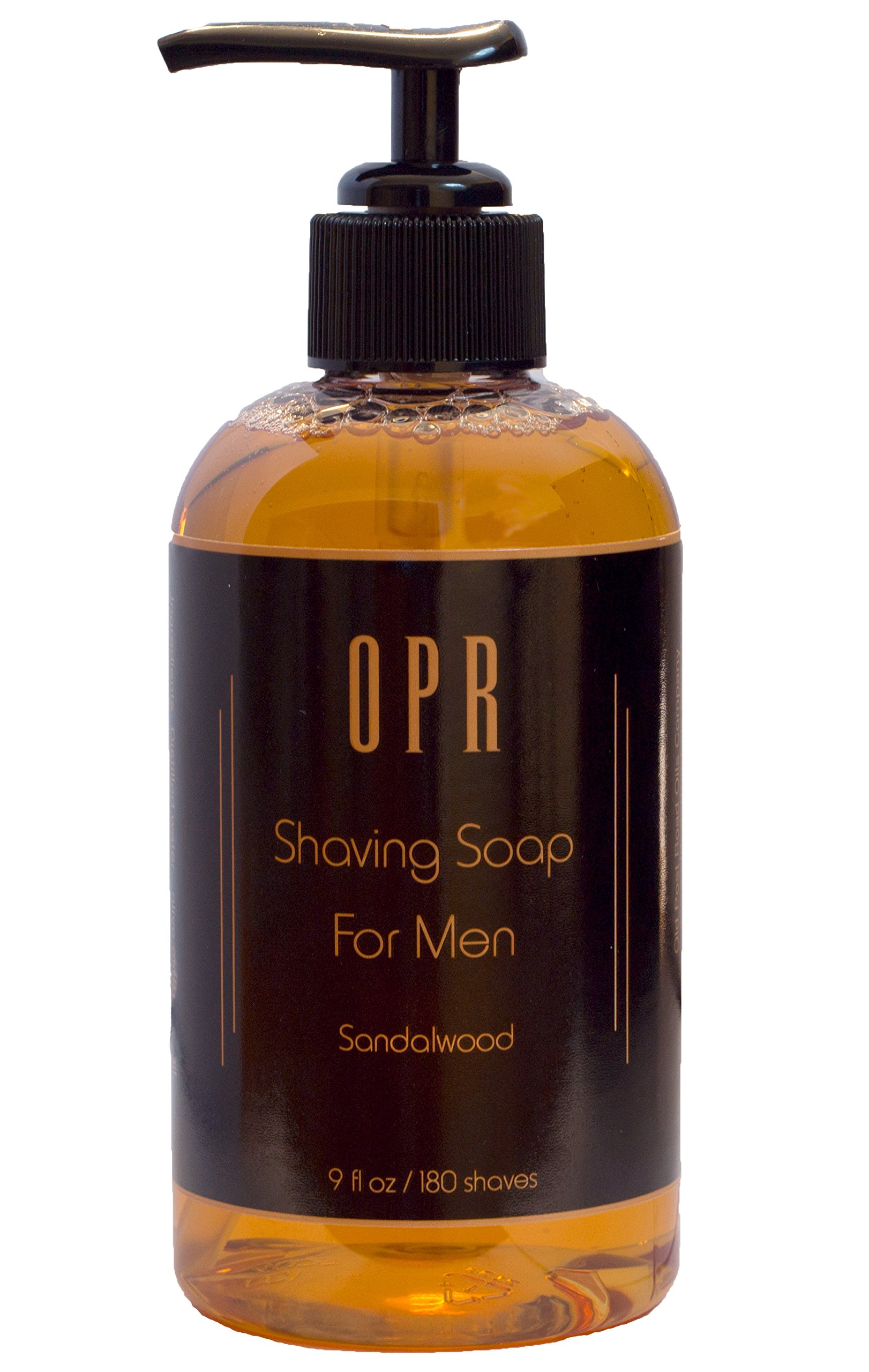 OPR's Sandalwood Shaving Soap Is Soothing Foam-Free Shave ''Cream'' That Gives Superior Lubrication And Leaves Your Face Feeling Smooth It Smells Great And Provides Up To 180 Shaves
