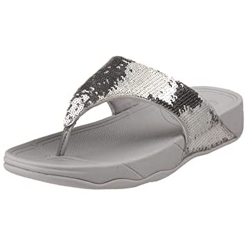 a313ee97f50d8a FitFlop sandals - girls Electra - Silver size 2 child uk  Amazon.co.uk   Sports   Outdoors