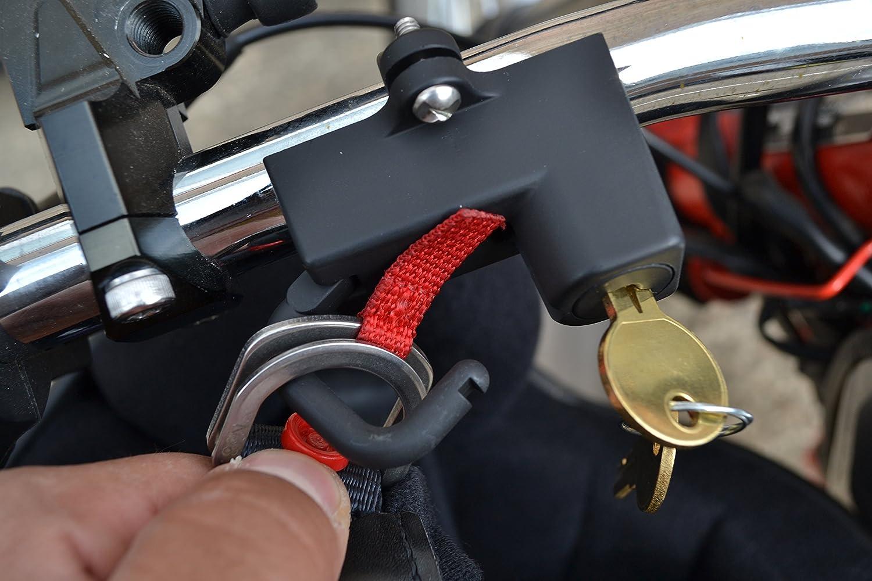 Calidad Casco de la Moto Cerradura para 7//8 Or 22mm Manillar
