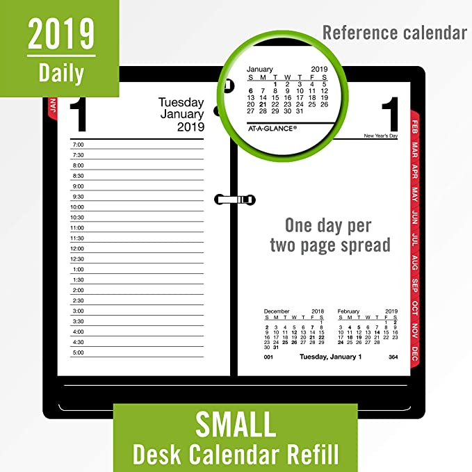 Amazon.com: AT-A-GLANCE 2019 - Recambio de calendario de ...