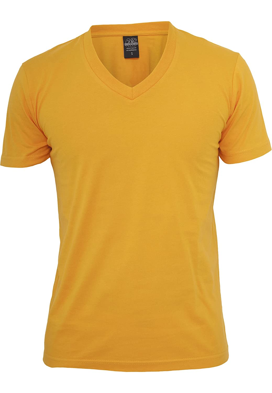 94b58b01 Urban Classic TB169 Basic V-Neck T-Shirt V Neck T Shirt - Grey - 38:  Amazon.co.uk: Clothing