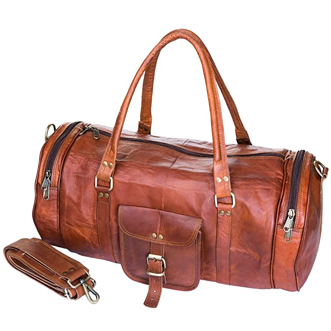 38523ddb5d Image Unavailable. Image not available for. Color  Urban Leather Gym Bag  Sports Luggage Tote Duffle Bags For Men   Women