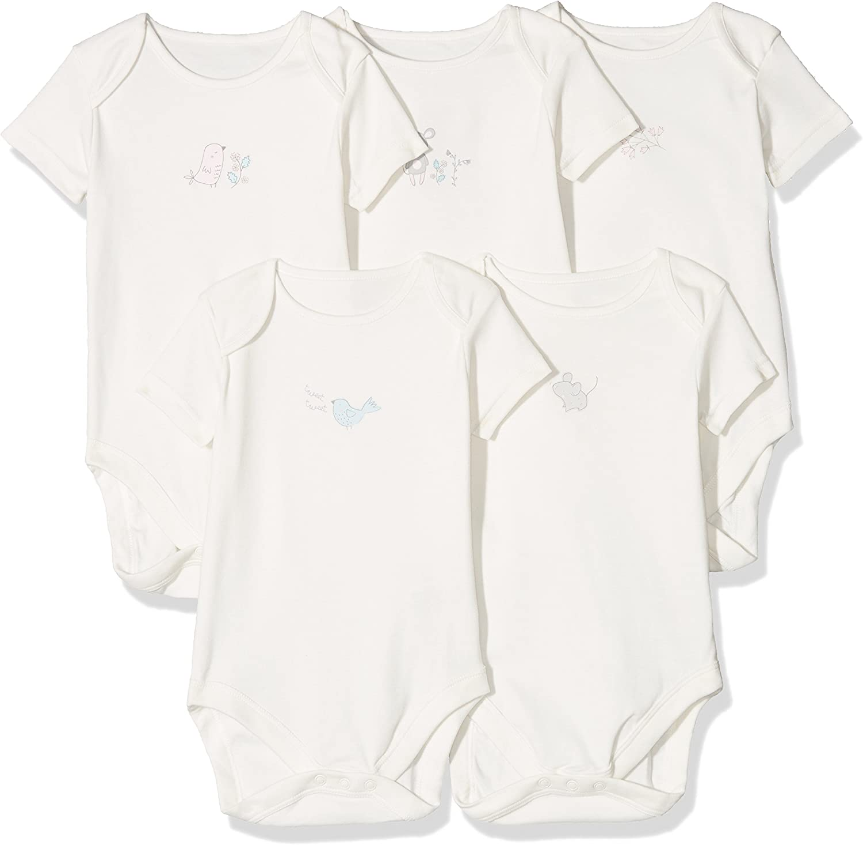 Mothercare Baby Girls Squeak Bodysuit