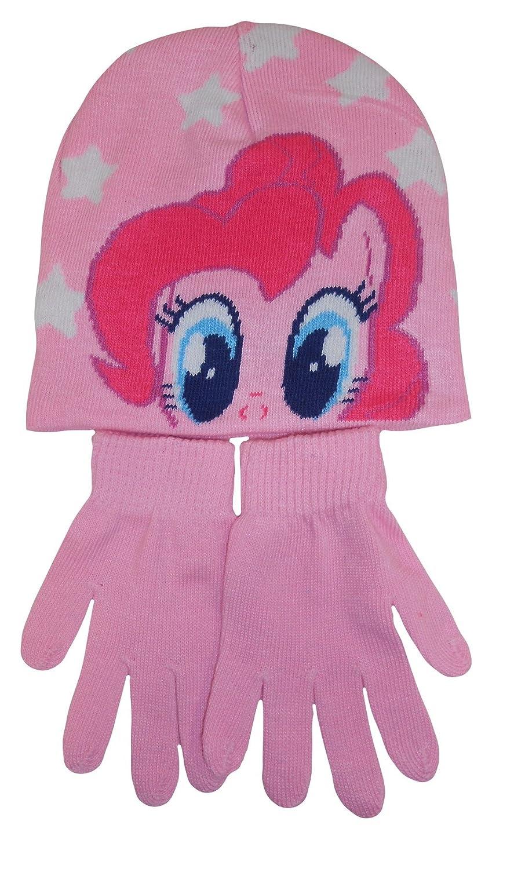 Choose Pink or Blue Hunter Price My Little Pony Girls Hat /& Gloves Set Pink