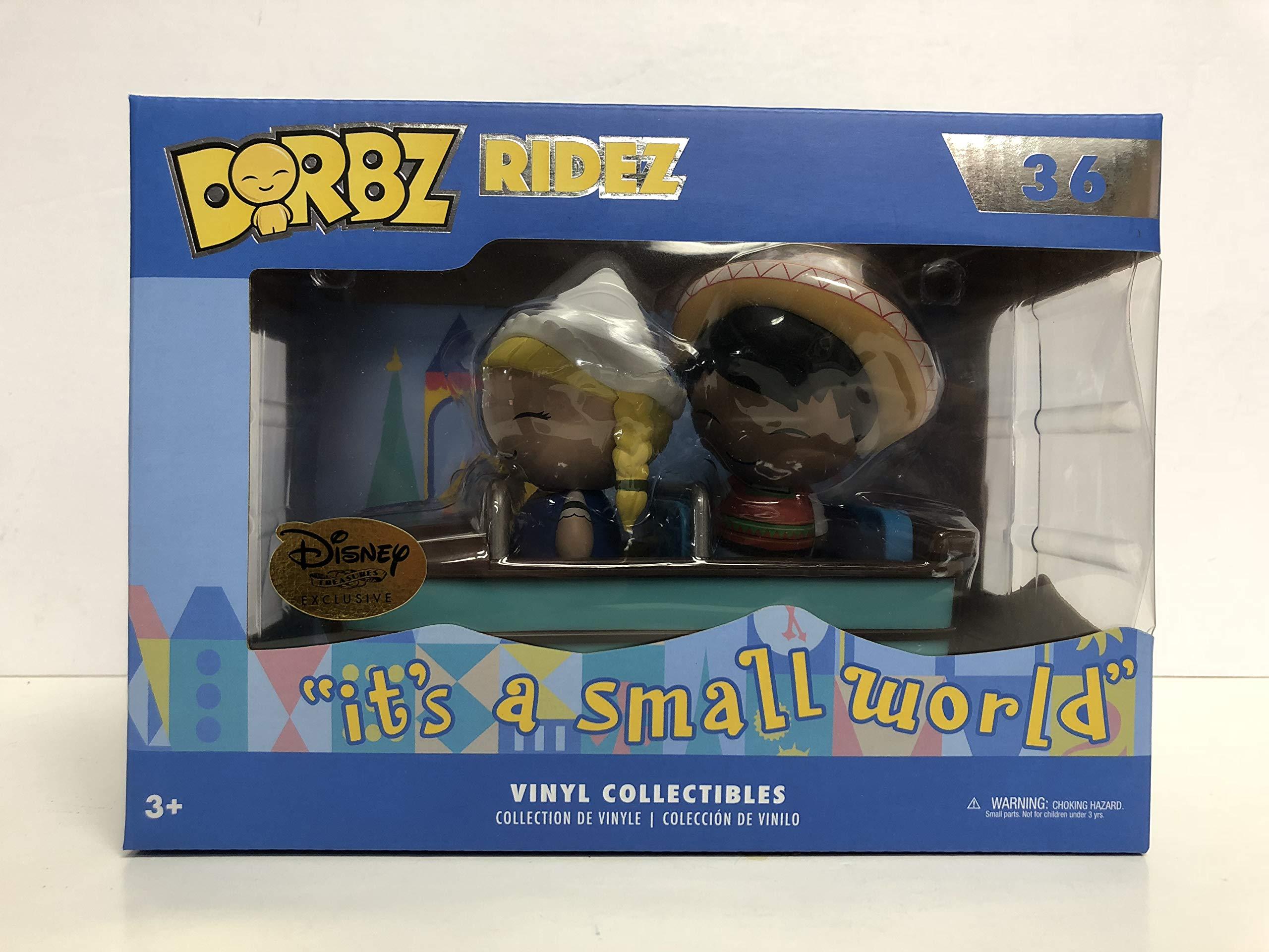 "DORBZ RIDEZ""it's a small world"" vinyl collectible Funko Disney Treasures Exclusive"