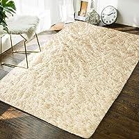 Delxo - Alfombras de interior ultra suaves para sala de estar, alfombras para decoración del hogar, 1.2 x 1.8 m (gris…