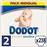 Dodot Protection Sensitive - Pañales, Talla 2 (4-8 kg),  Paquete de (7 x 34 pañales ), 238 pañales