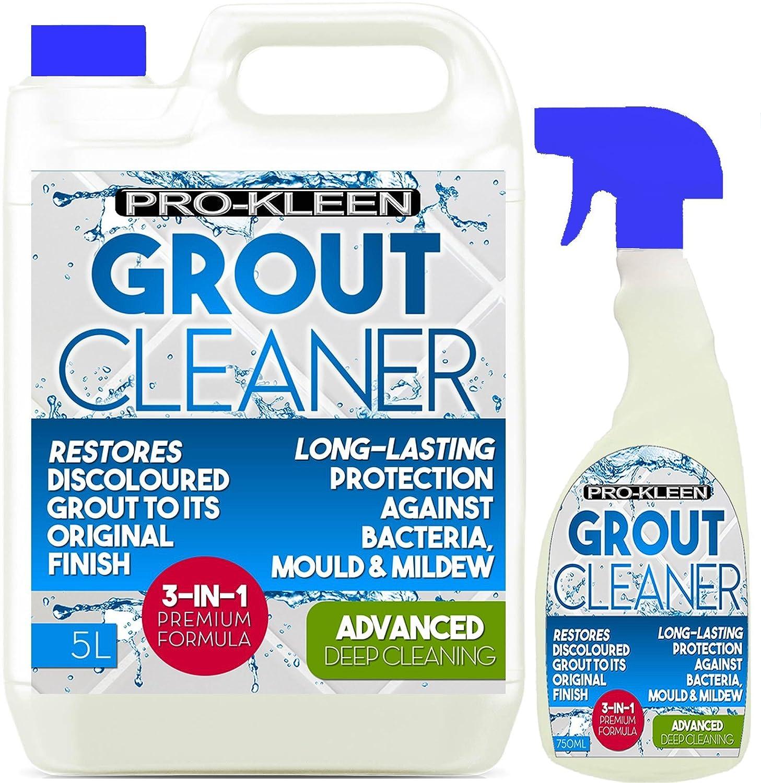 Awesome 5L 750Ml Pro Kleen Tile Grout Cleaner Restorer Reviver Kitchen Bathroom Home Interior And Landscaping Ologienasavecom