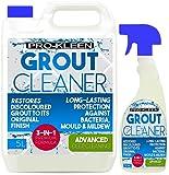 5L + 750ml Pro-Kleen Tile Grout Cleaner Restorer Reviver Mould Mildew