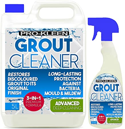 5L + 750ml Pro Kleen Tile Grout Cleaner Restorer Reviver Kitchen Bathroom