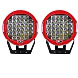 Northpole Light [2 Pack] 9 inch 185W CREE Round Front Bumper LED Light Bar Roof Driving Headlights LED Driving Fog…