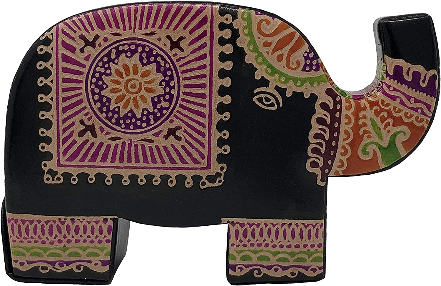 Leather Elephant Bank - Beautiful Indian Design - Decorative Art Bank - Perfect at Home, Office or as a Gift - Hold Coins, Dollars and All The Money ;) by Rich Rose Supply Co.
