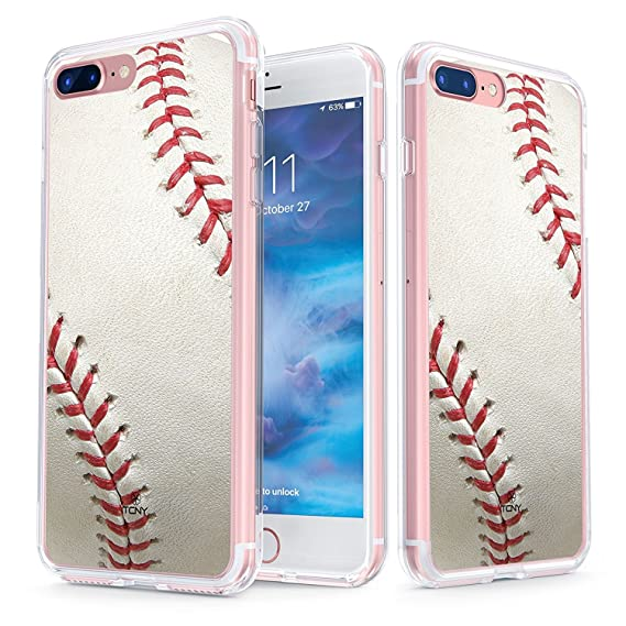 finest selection 6580b 95d23 True Color Case Compatible with iPhone 8 Plus & iPhone 7 Plus Case -  Clear-Shield Baseball Sports Collection Printed on Clear Back - Soft and  Hard ...