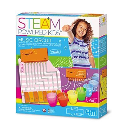 4M Steam Powered Girls Magic Circuit Kit, Brown/a: Toys & Games