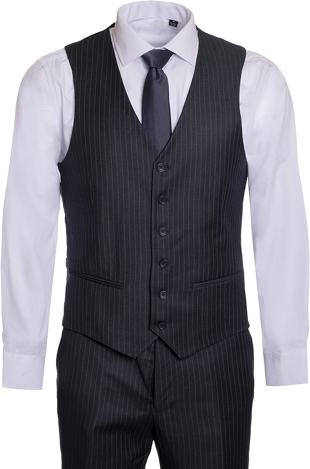 Many Colors/… King Formal Wear Elegant Mens Modern Fit Three Piece Two Piece Two Button Suits