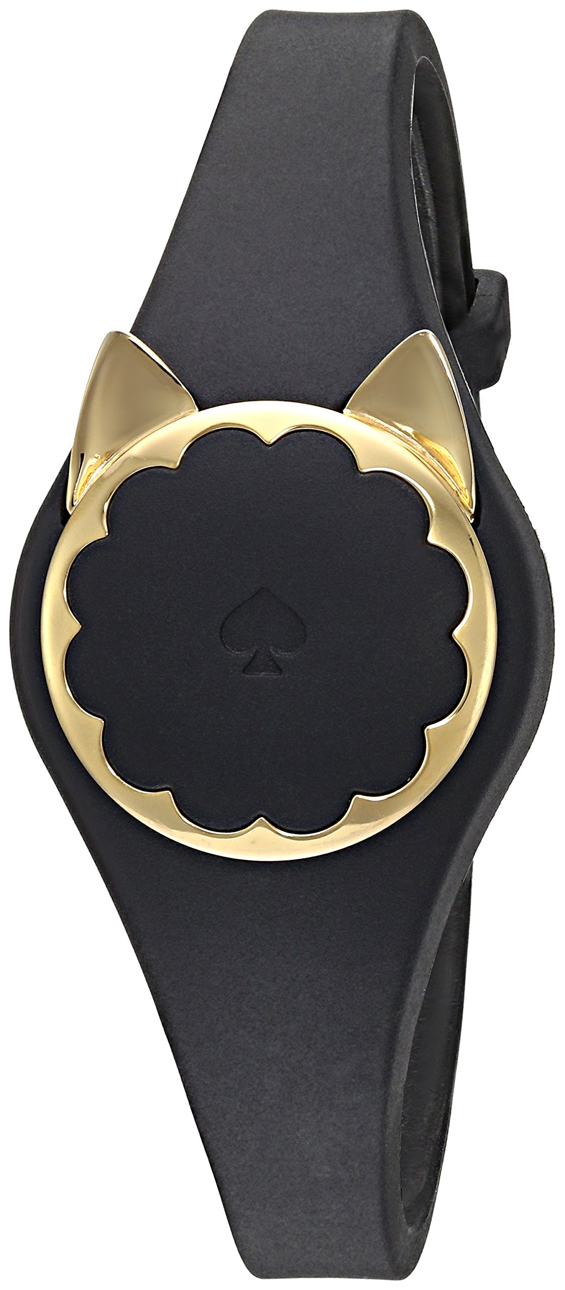 Kate Spade New York black cat scallop activity tracker