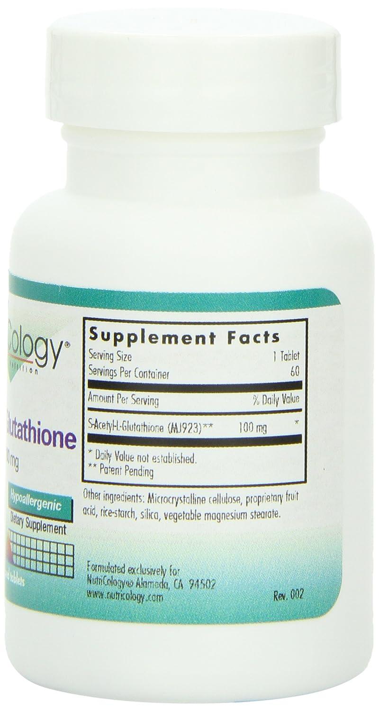 Acetil-glutatión, 100 mg, 60 comprimidos ranurados - Nutricology: Amazon.es: Salud y cuidado personal