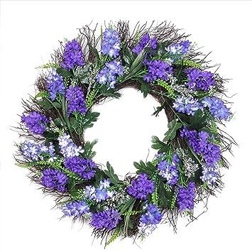 Amazon northlight shades of artificial lilac and heather spring northlight shades of artificial lilac and heather spring floral wreath unlit 22quot mightylinksfo