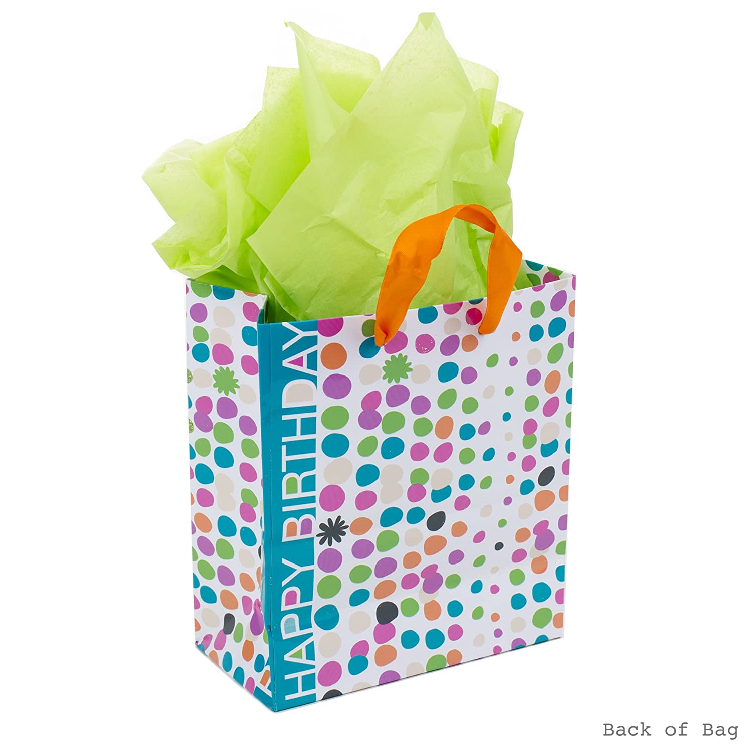 Hallmark Small Birthday Gift Bag With Tissue Paper Dots Flowers Amazonin Home Kitchen
