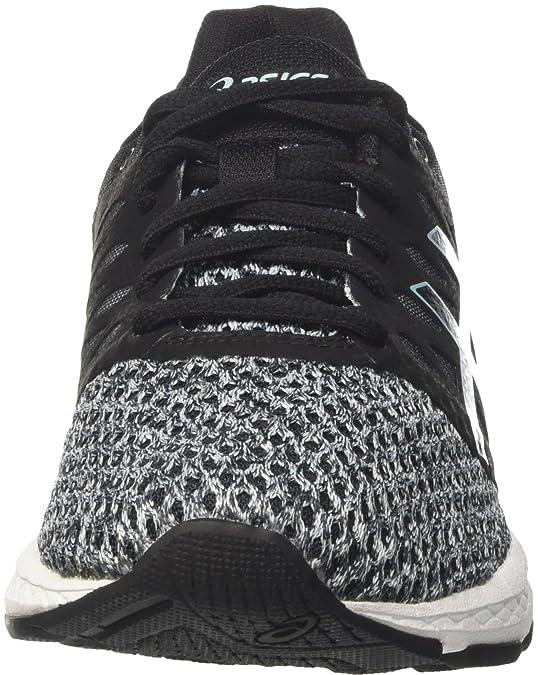 Asics Gel-Exalt 4, Chaussures de Running Compétition Femme, Noir (Black/Dark Grey/Porcelain Blue 9095), 37.5 EU