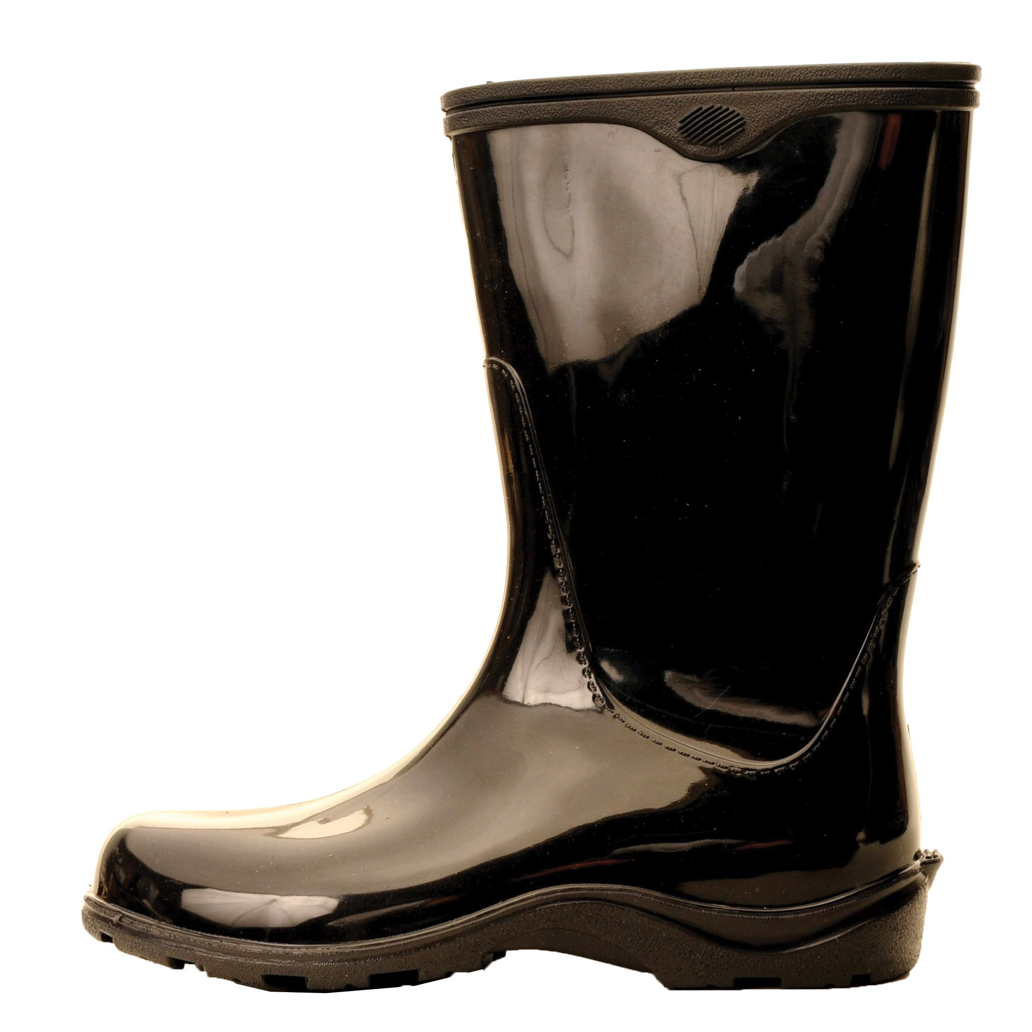 Sloggers Women's  Waterproof Rain and Garden Boot with Comfort Insole,  Classic Black, Size 10, Style 5000BK10