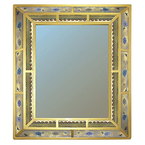 Decorative Mirror For The Dining Room Large Lilium Flowers Double Frame Mirror Made Of Hand Painted Glass Parts Handmade