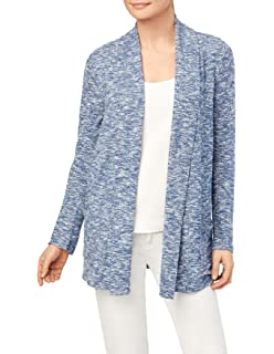 89th Madison Long Sleeve Open Cardigan With Mitered Ribmini Dot