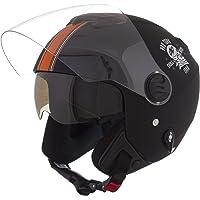 Pro Tork Capacete New Atomic Skull RideRosa Fosco 60 Preto/Laranja