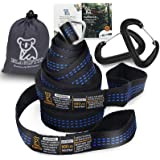 Hammock Straps Camping Tree Straps 1800+ lbs Heavy Duty Hammock Accessories Adjustable Straps Suspension System 9 ft w/ Carab