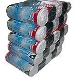 Papstar Müllbeutel  (1 Karton = 5 x (5 x 20 Müllbeutel), 30 l, 60 x 50 cm, je 5er Packung 3 weiße und 2 schwarze Rollen, farblich sortiert, #12095
