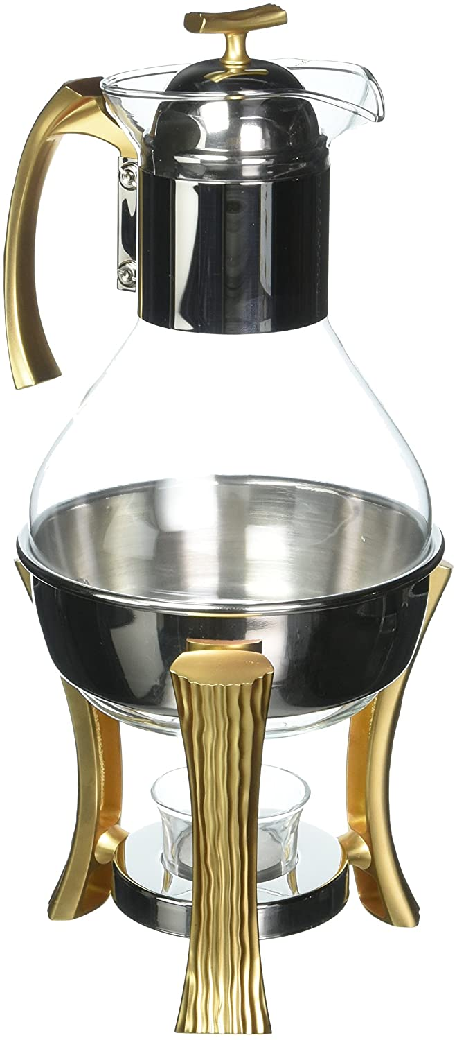18/10 Stainless Steel Matte Gold NG215 beverage-warmers, 13.5' Tall, Gold 13.5 Tall