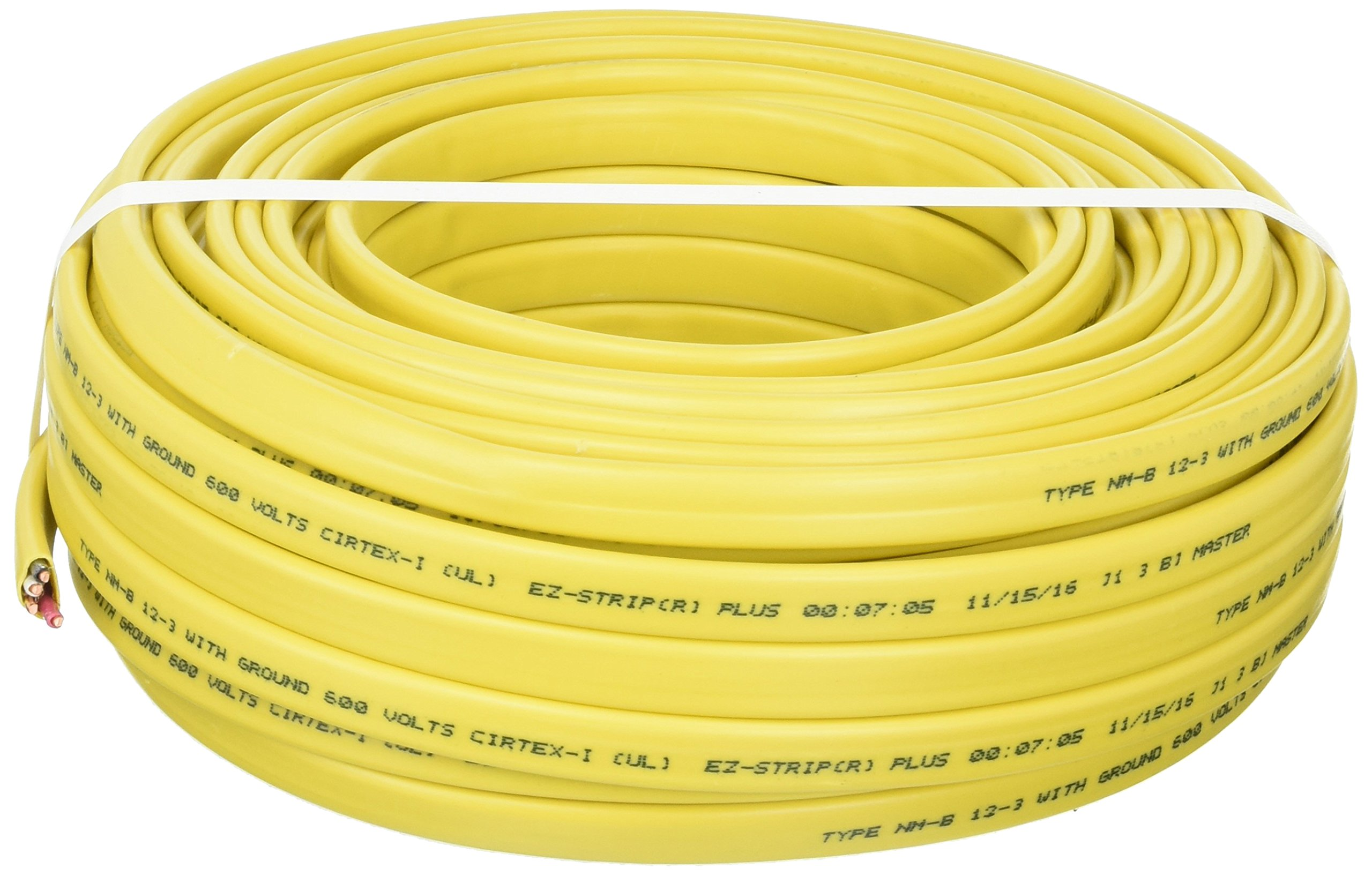 Cerrowire 147-1603CR-2 100-Foot 12/3 NM-B Solid with Ground Wire, Yellow