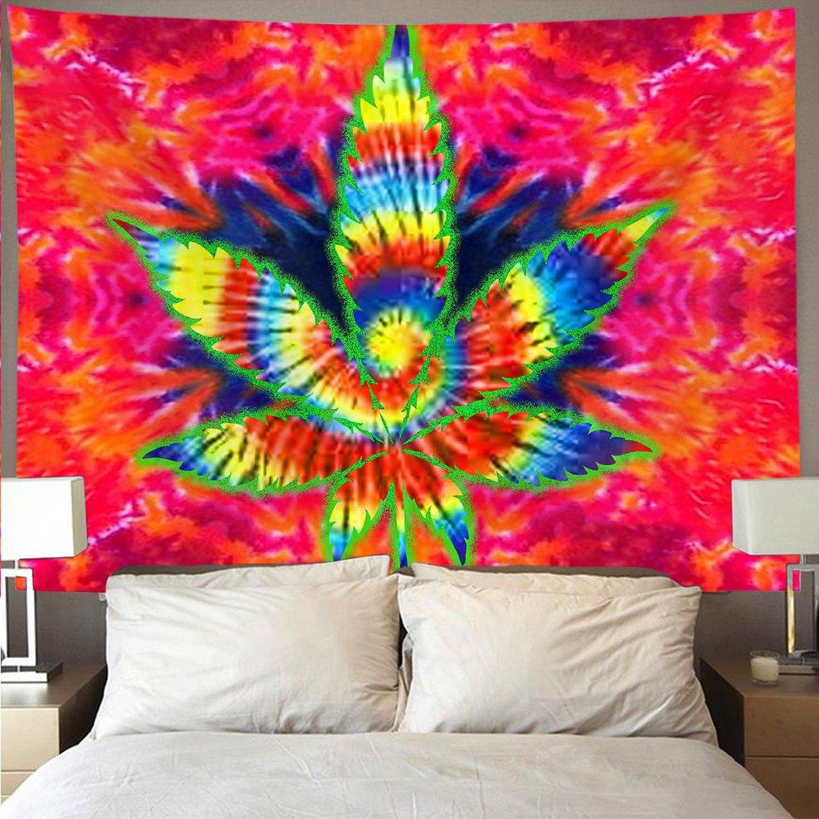 . Amazon com  HOMESTORES trippy pot leaf marijuana weed Wall Tapestry