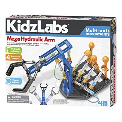 4M Mega Hydraulic Arm Robotic Science Kit: Toys & Games