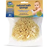 "Baby Buddy Natural Baby Bath Sponge 4"" Ultra Soft Premium Sea Wool Sponge Soft On Baby's Tender Skin, Biodegradable…"
