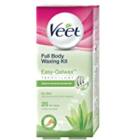 Veet Full Body Waxing Kit for Dry Skin, 20 strips