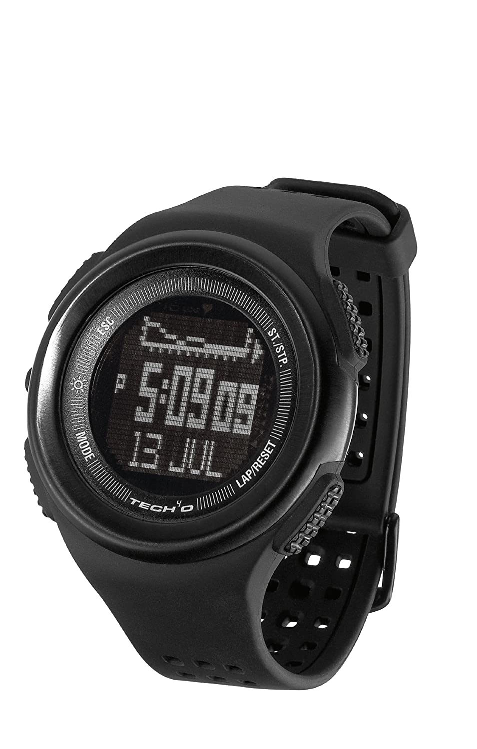 Tech4O - Reloj de pulsera, color negro: Amazon.es: Deportes y aire libre