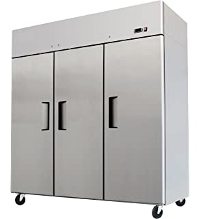 78 Triple 3 Door Side By Stainless Steel Reach In Commercial Refrigerator MBF