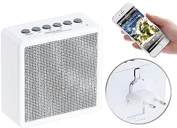 auvisio Badezimmer Radio: UKW-Steckdosenradio mit Bluetooth, Freisprecher,  USB-Ladeport, AUX-in (Badradio Steckdose)