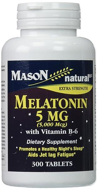 Amazon.com: Mason Vitaminas Melatonina 5 Milligram 300 ...